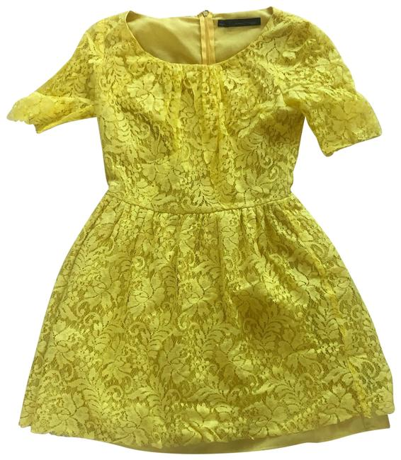 Preload https://img-static.tradesy.com/item/25061182/patterson-j-kincaid-yellow-lace-lined-like-new-mid-length-cocktail-dress-size-8-m-0-1-650-650.jpg