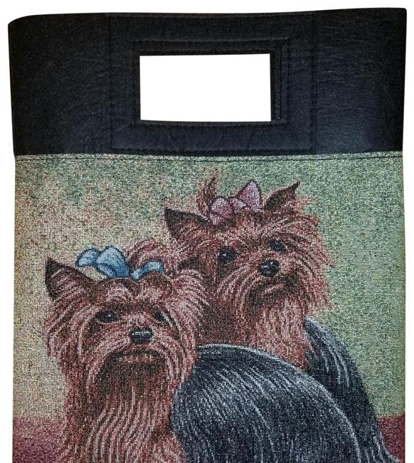 Black Yorkshire Terrier Yorkie Dog Tapestry Purse Socks Black Yorkshire Terrier Yorkie Dog Tapestry Purse Socks Image 1