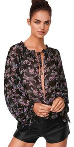 Victoria's Secret Polyester Chiffon Sheer Sheer Top