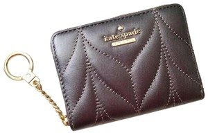 Kate Spade NEW Kate Spade Metallic Quilted Leather Card Case KeyChain Wallet