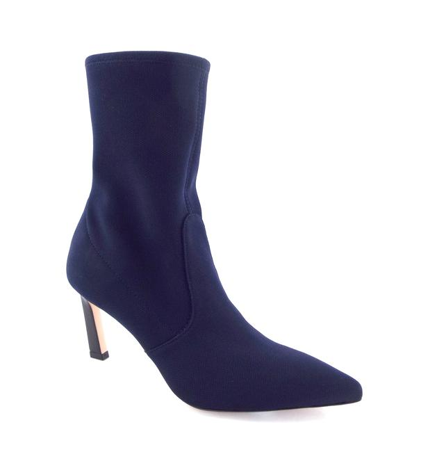 Item - Navy Blue Knit Sock Ankle Boots/Booties Size US 8.5 Regular (M, B)