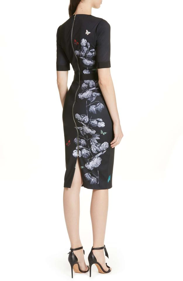 dcda03b43 Ted Baker Black with Flowers Narrnia Body-con In 3 (8) Mid-length ...