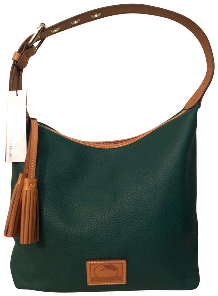 0829b8aee Dooney & Bourke Paige Sac Leaf Green Pebble Grain Leather Hobo Bag ...
