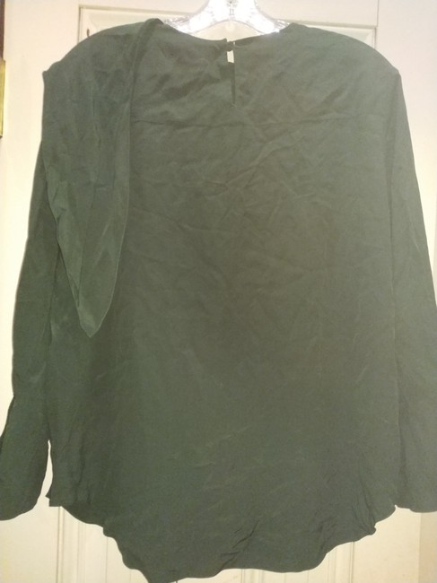 7227865c53f0a Chloé Forest Green 42 Made In Madagascar Silk with Tie Colla Blouse ...
