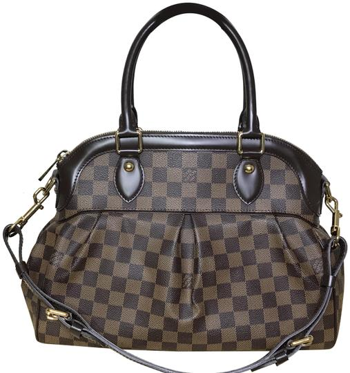 6fd96f224bf3 Louis Vuitton Trevi Pm Damier Ebene Brown Leather Shoulder Bag - Tradesy