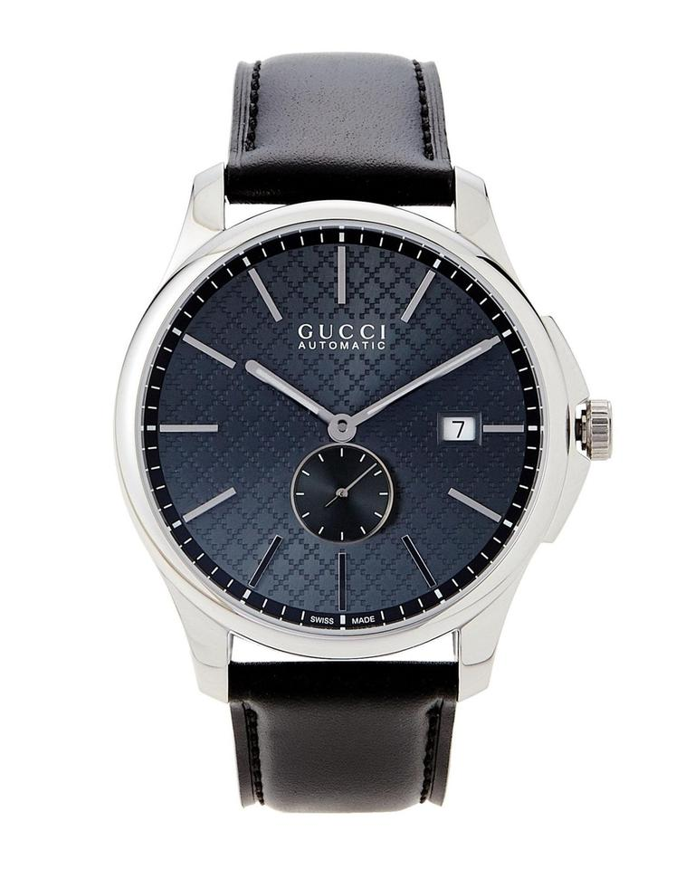 fc95a394af7 Gucci G-Timeless 40mm Grey Dial Black Leather YA126319 Men s Automatic  Image 0 ...