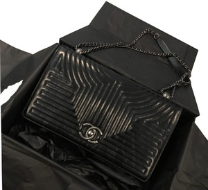Chanel Classic Chevron Cross Body Bag