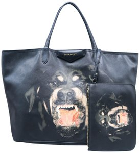 Givenchy Antigona Rottweiler Canvas Tote in Black