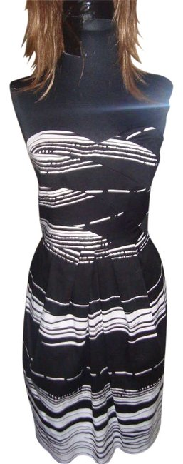 Boston Proper short dress BLACK AND WHITE on Tradesy