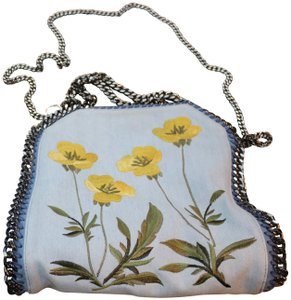 Stella McCartney Denim Embroidered Shoulder Bag
