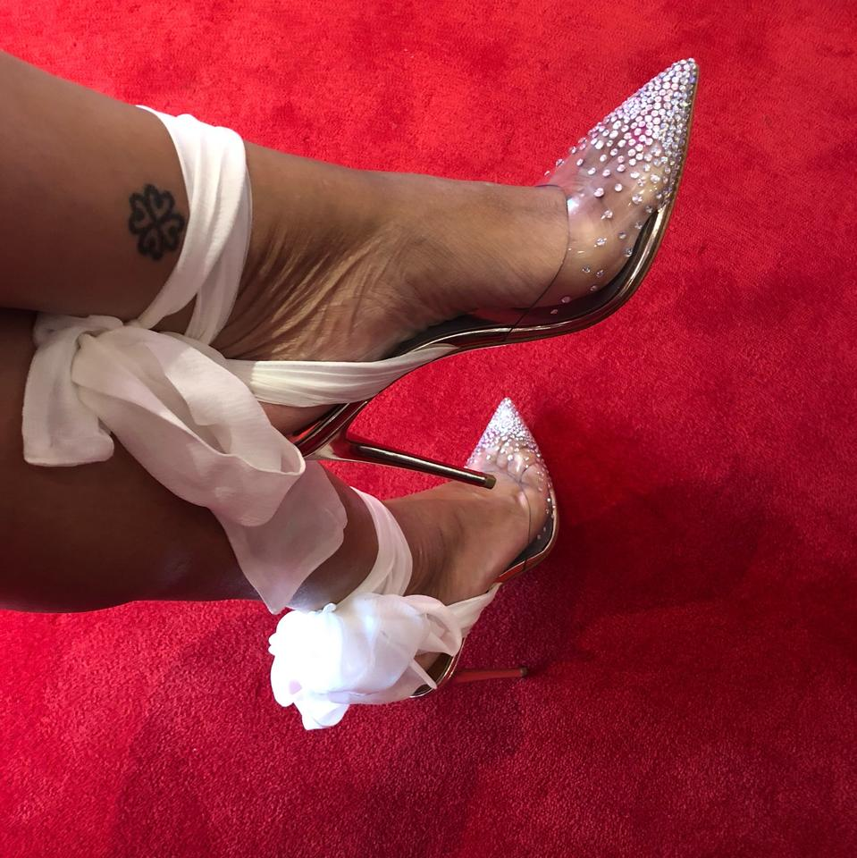 efc40a64a11 Christian Louboutin White / Clear / Crystal Mira Girl Pumps Size US 8.5  Regular (M, B) 22% off retail