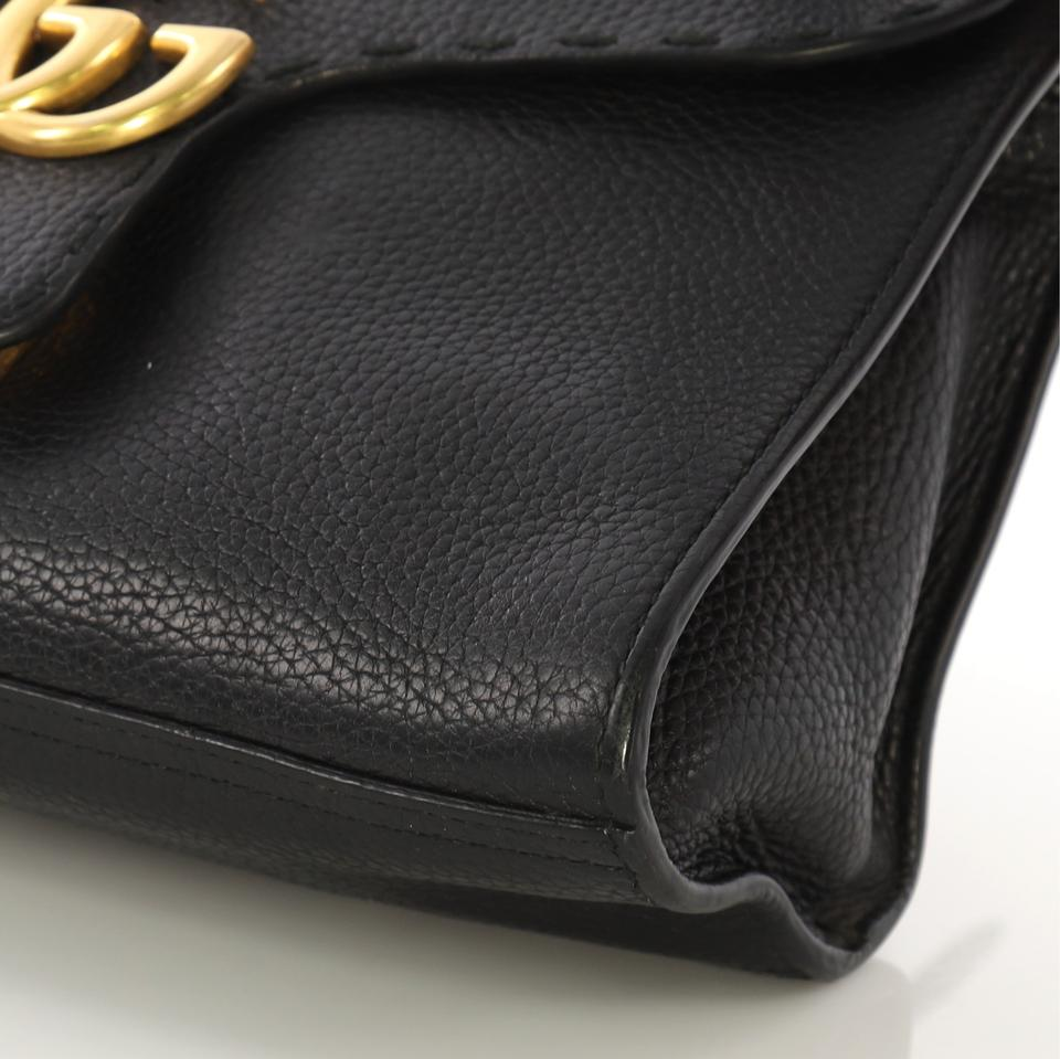 35084b7353a3 Gucci Top Handle Bag Animalier Marmont Gg Small Black Leather Tote - Tradesy
