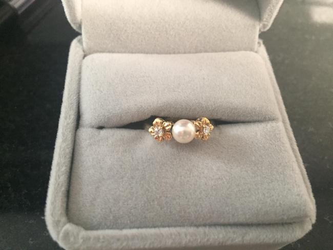 Mikimoto 18kt Gold **mint** Condition with Diamond Accents Ring Mikimoto 18kt Gold **mint** Condition with Diamond Accents Ring Image 1