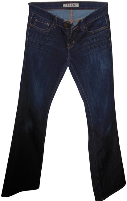 Item - Blue Acid Stretch Boot Leg Denim Skinny Jeans Size 26 (2, XS)