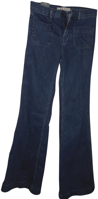 Item - Blue Acid Stretch High Rise Denim Trouser/Wide Leg Jeans Size 25 (2, XS)