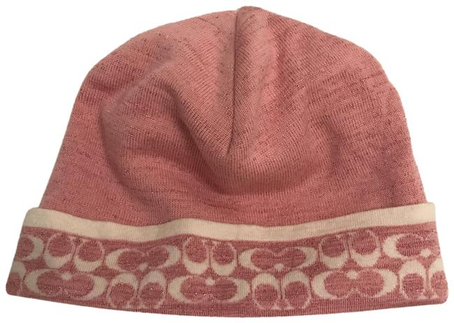 Item - Pink White New Reversible Glitter Mini Sig. Lurex Beanie Hat