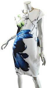 Reed Krakoff short dress White Blue Multi Color Work Of Art Floral on Tradesy