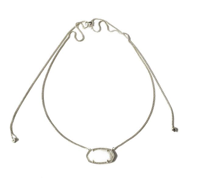 Item - Silver Delaney White Pearl Necklace