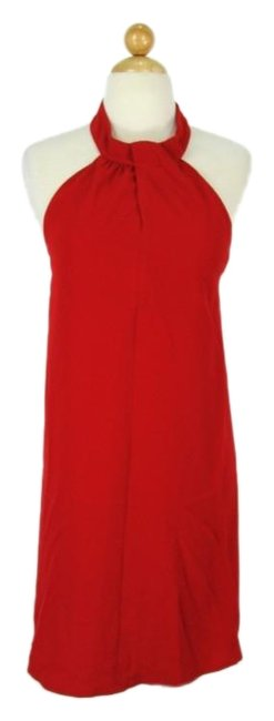 Item - Red 60's Style Halter Short Cocktail Dress Size 4 (S)