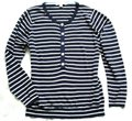 Boden Striped Wool Button Neck 14 (Uk18) Navy Sweater Boden Striped Wool Button Neck 14 (Uk18) Navy Sweater Image 2