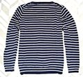 Boden Striped Wool Button Neck 14 (Uk18) Navy Sweater Boden Striped Wool Button Neck 14 (Uk18) Navy Sweater Image 4