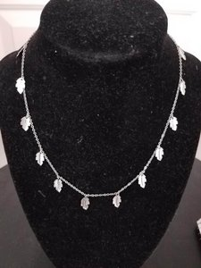 Avon Avon Silvertone Leaves Necklace