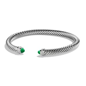 David Yurman David Yurman Cable Classic Bracelet with Green Onyx and Diamond