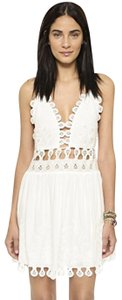 Honey Punch short dress coconut Shopbob Mini Lace on Tradesy