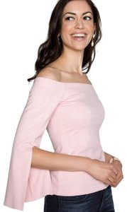 Amanda Uprichard Chic Polished Spring Date Night Night Out Top Dusty Rose