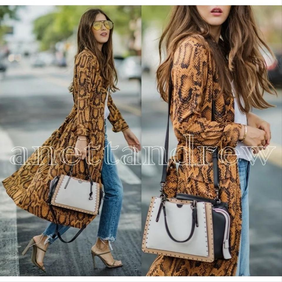7716f9907b69 Zara Blogger Fav Animal Print Tunic Midi Shirt with Belt Casual Maxi Dress