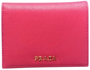 5bc72cd5005c Prada Prada Portafoglio Verticale Fuxia Geranio Vitello Move Leather Wallet