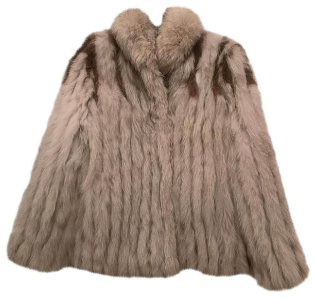 Item - Silver White Blue Brown Natural Fox Coat Size 6 (S)