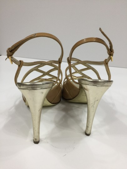 Valentino Metallic Strappy Tan/nude Sandals Image 1