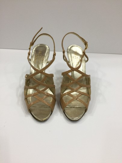 Valentino Metallic Strappy Tan/nude Sandals Image 2