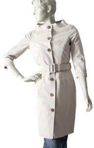 Gryphon Neck Vintage Style Belted Trench Coat