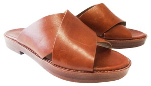 Michael Kors Collection Leather Tan Sandals