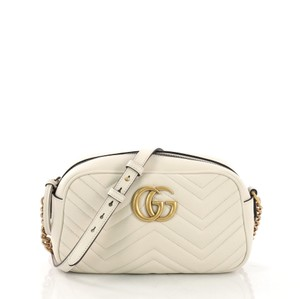 6d70a585a4e4 Added to Shopping Bag. Gucci Leather Shoulder Bag. Gucci Marmont Matelasse  Small White ...