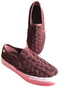 Tory Burch Dark Brown/Gold/White Athletic