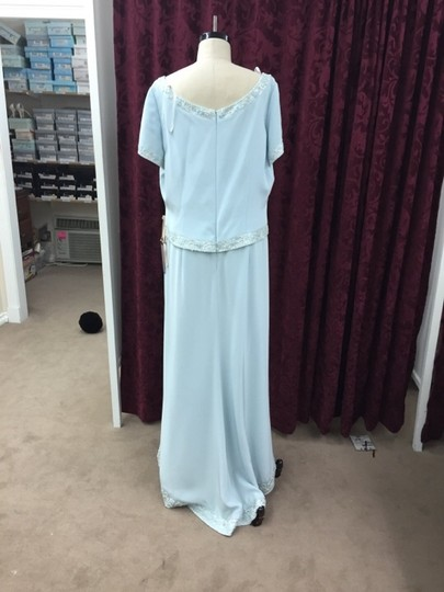 Cameron Blake Ice Blue Silky Crepe 17600 Formal Bridesmaid/Mob Dress Size 18 (XL, Plus 0x) Image 1
