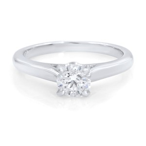 Cartier 0.41ct Round Brilliant Diamond Platinum Engagement Ring