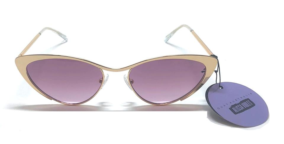 9422c51a421af Quay Gold - Purple Lens Alissa Violet Glasses Boss with Tags Free 3 Day  Shipping -cat Eye Sunglasses