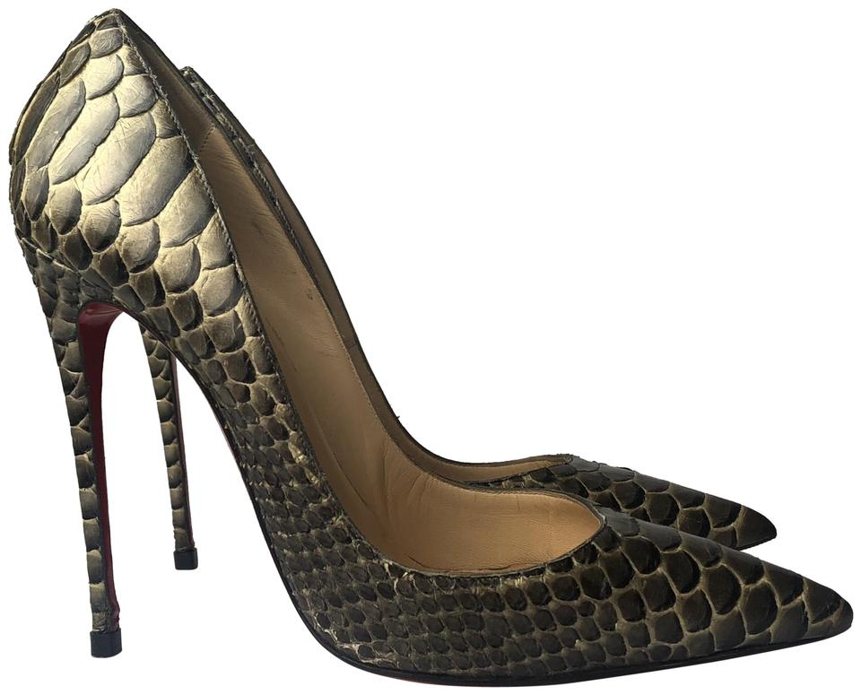 best website f60f9 7f6c2 Christian Louboutin Bronze Brown Python So Kate 120 Mm Pumps Size EU 37.5  (Approx. US 7.5) Regular (M, B) 58% off retail