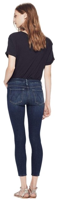 Item - Here Kitty Kitty Dark Rinse 'the Looker Crop' Capri/Cropped Jeans Size 24 (0, XS)