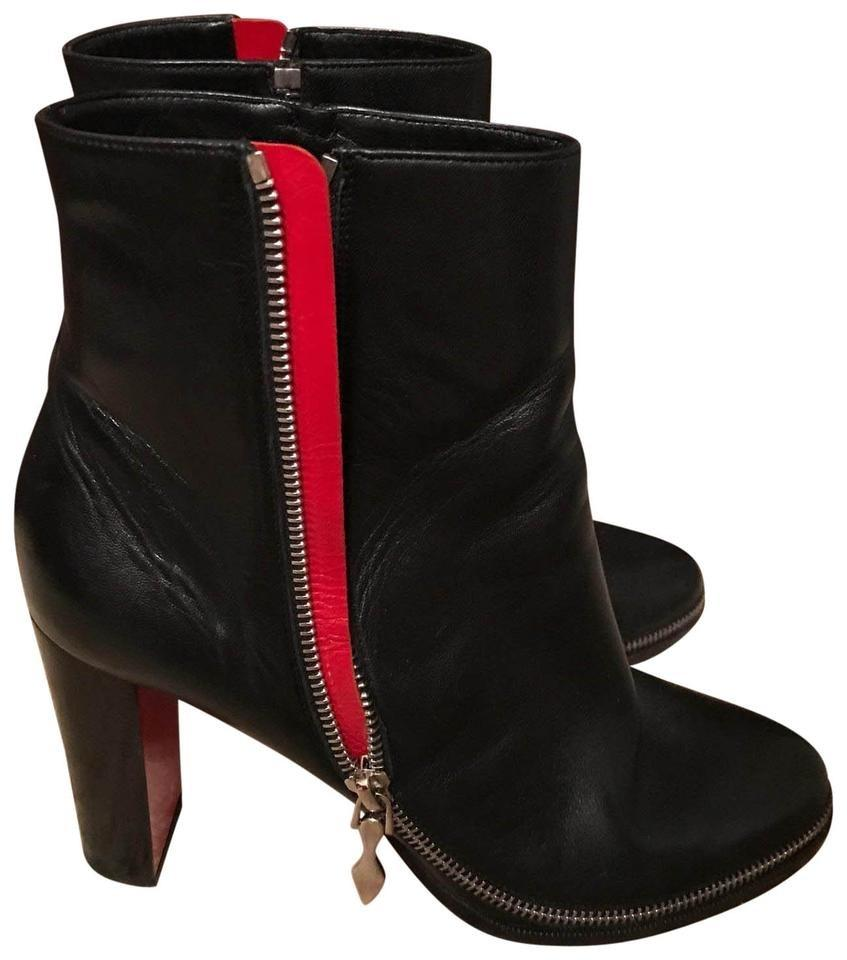online store a3c02 1a4aa Christian Louboutin Black Telezip 85 Leather Ankle Boots/Booties  Boots/Booties Boots/Booties Size EU 39.5 (Approx. US 9.5) Regular (M, B)  46% off ...