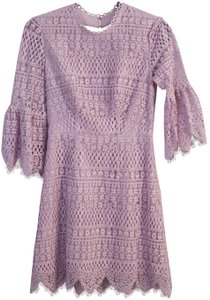 Whistles Lace Flared Sleeves Open Back Bell Sleeves Dress