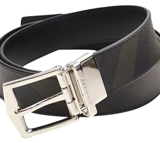 04c558c1f3f Burberry Checked Black Reversible London Check and Leather Belt ...