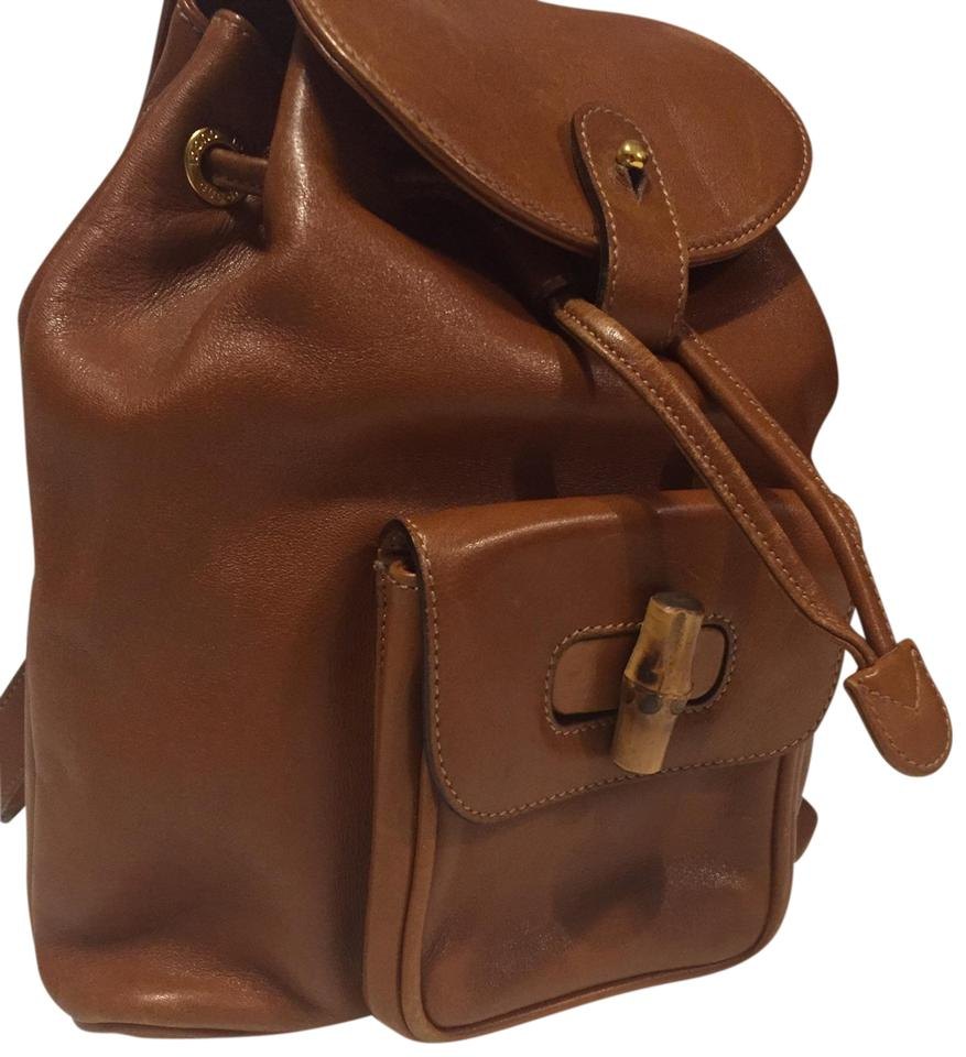 67fdd258b54 Gucci Mini  Ship Next Day Brown Black Beige Leather Backpack - Tradesy