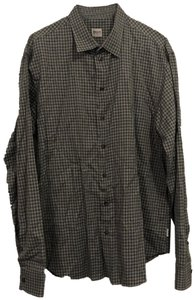 Armani Collezioni Button Down Shirt Gray