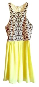 Jealous Tomato short dress Yellow, Black, White on Tradesy