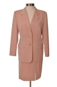 Escada Pink Escada Skirt Suit Long Sleeve Size 42 US 10